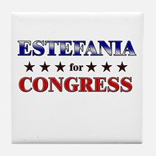 ESTEFANIA for congress Tile Coaster