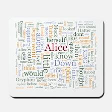 Alice in Wonderland Word Cloud Mousepad