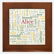 Alice in Wonderland Word Cloud Framed Tile