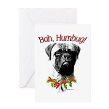 Bullmastiff Humbug Greeting Card