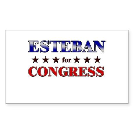 ESTEBAN for congress Rectangle Sticker
