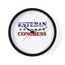 ESTEBAN for congress Wall Clock