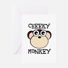 CHEEKY MONKEY Greeting Cards (Pk of 10)
