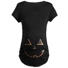 Pumpkin Face Maternity T-Shirt