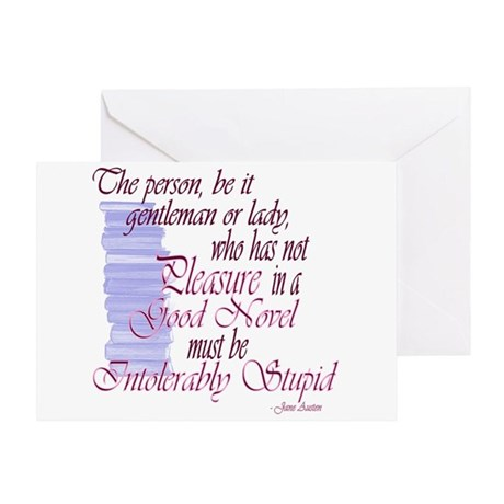 Jane Austen Novel Quote Greeting Card