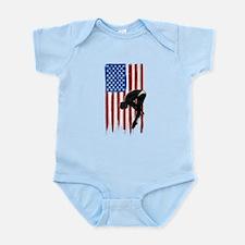 USA Flag Team Diving Infant Bodysuit