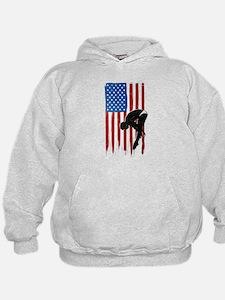 USA Flag Team Diving Kid's Hoodie