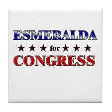 ESMERALDA for congress Tile Coaster