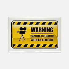 Warning Camera Operator Rectangle Magnet