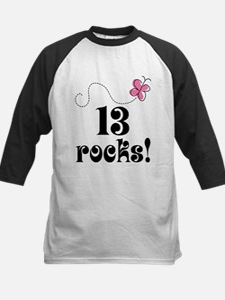13th Birthday Butterfly Baseball Jersey