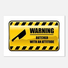 Warning Butcher Postcards (Package of 8)
