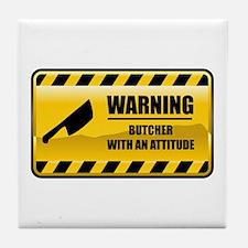 Warning Butcher Tile Coaster