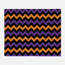 Purple, Black, and Orange Chevron Pa Throw Blanket