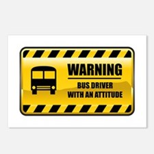 Warning Bus Driver Postcards (Package of 8)