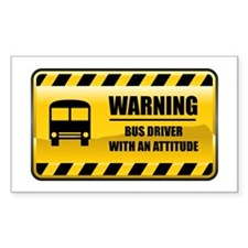 Warning Bus Driver Rectangle Decal