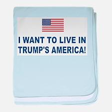 Trump's America baby blanket