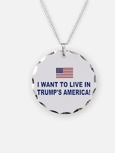 Trump's America Necklace Circle Charm