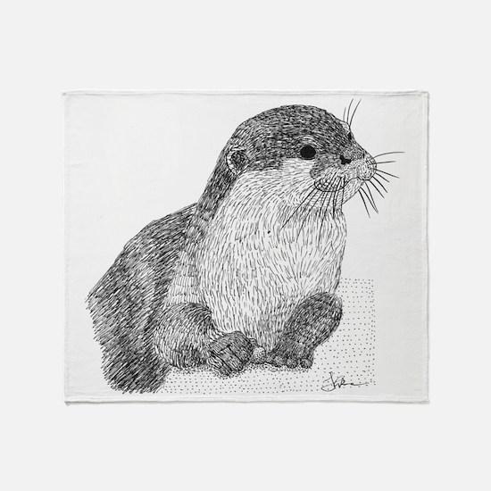 Otter Throw Blanket