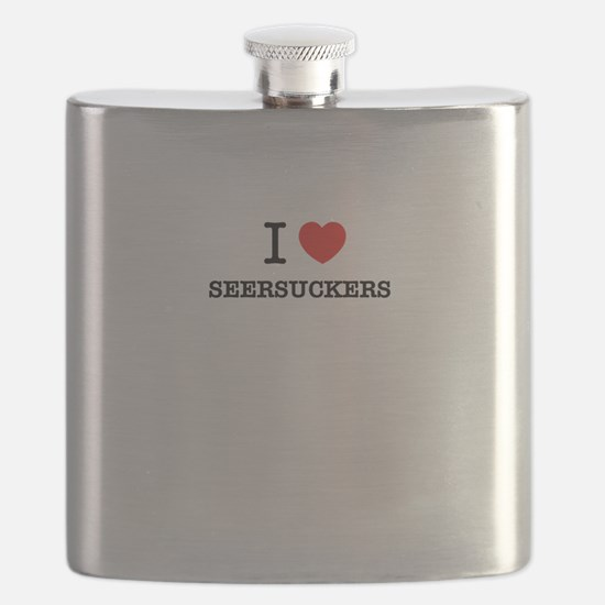 I Love SEERSUCKERS Flask