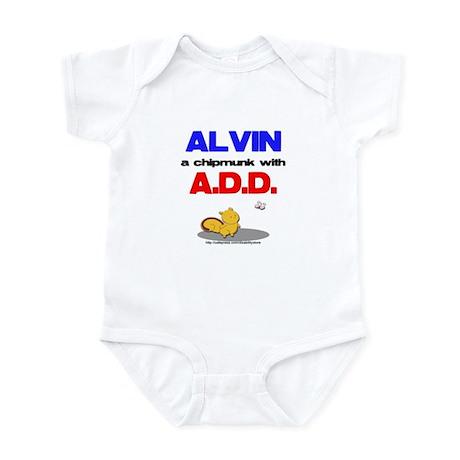 Alvin has A.D.D. Infant Bodysuit