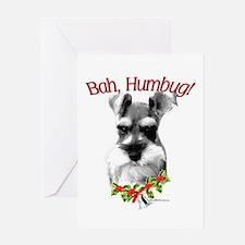 Std. Schnauzer Humbug Greeting Card