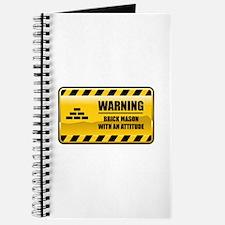 Warning Brick Mason Journal