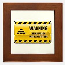 Warning Brick Mason Framed Tile