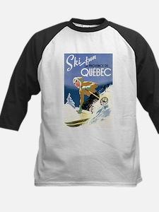Quebec, Canada - Ski Fun - Vintage Travel Poster B