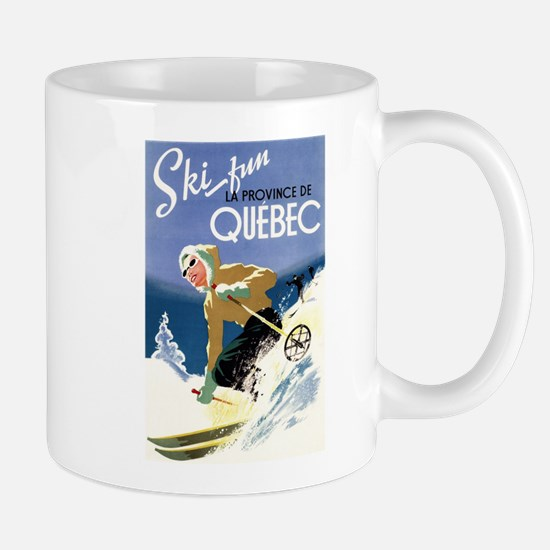 Quebec, Canada - Ski Fun - Vintage Travel Poster M