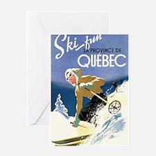 Quebec, Canada - Ski Fun - Vintage Travel Poster G
