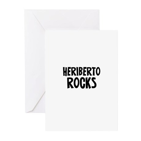 Heriberto Rocks Greeting Cards (Pk of 10)