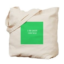 I Am Green Tote Bag