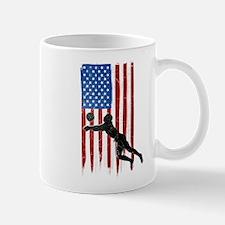 USA Flag Team Volleyball Mug