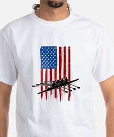 USA Flag Team Rowing Shirt
