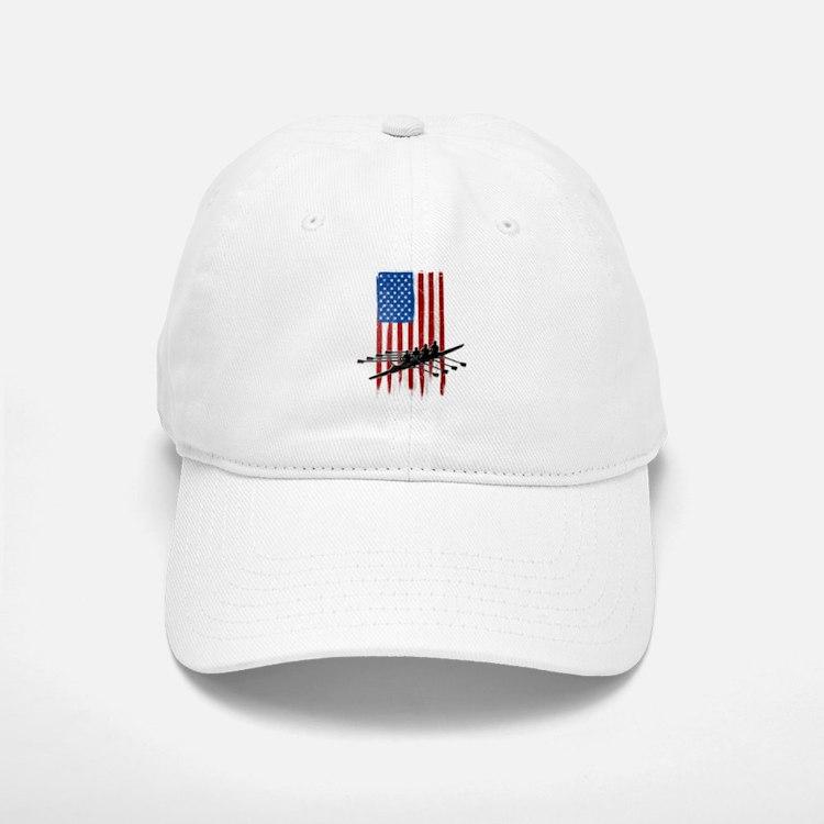 USA Flag Team Rowing Baseball Baseball Cap