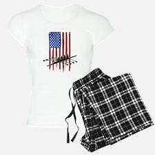 USA Flag Team Rowing Pajamas