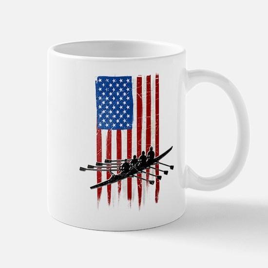 USA Flag Team Rowing Mug
