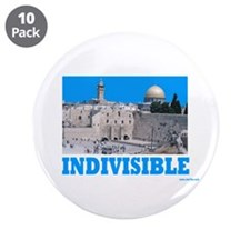 """Israel Indivisible 3.5"""" Button (10 pack)"""