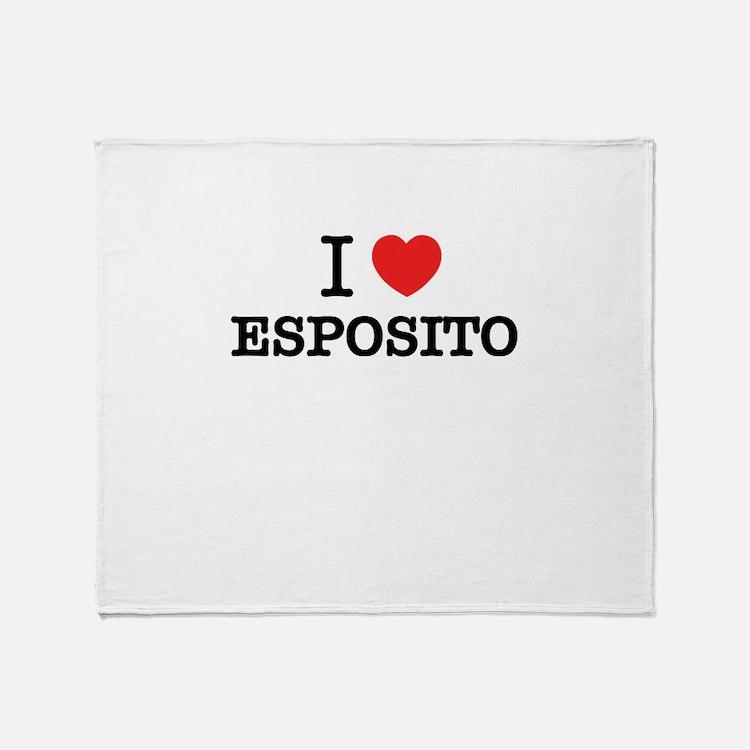 I Love ESPOSITO Throw Blanket