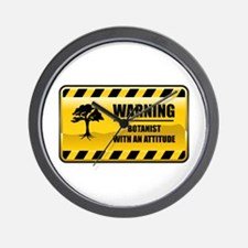 Warning Botanist Wall Clock