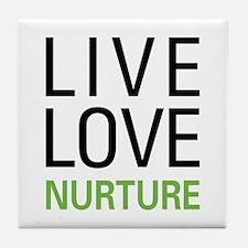 Live Love Nurture Tile Coaster