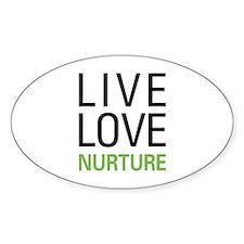 Live Love Nurture Oval Decal