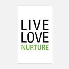 Live Love Nurture Rectangle Decal