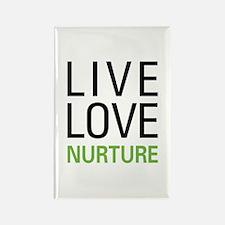 Live Love Nurture Rectangle Magnet (100 pack)
