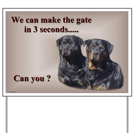 Rottweilers Yard Sign 2