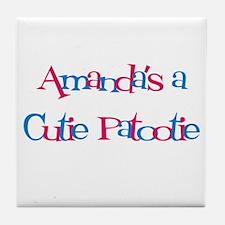 Amanda's a Cutie Patootie Tile Coaster