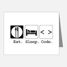 Eat. Sleep. Code. Note Cards (Pk of 20)