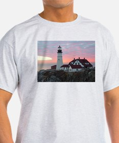 Portland Headlight Sunrise T-Shirt