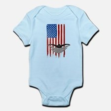 USA Flag Team Swimming Infant Bodysuit