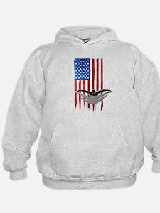 USA Flag Team Swimming Kid's Hoodie